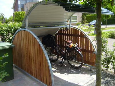Fietsenstalling f de fietsenstalling voor woonwijk of tuin