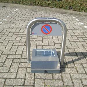 Parkeerbeugel RVS omklapbaar