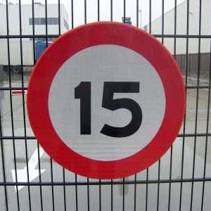 Verkeersbord 15 km per uur
