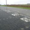 Parkeerbeugels met betonplaat