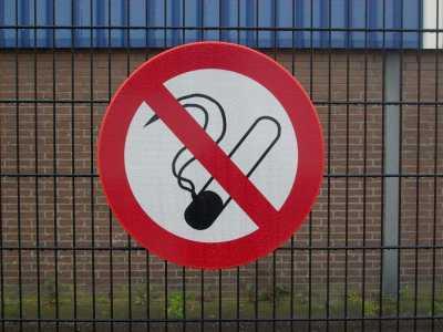 Verkeersbord verboden te roken