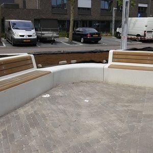 Bank Concrete met rugleuningen