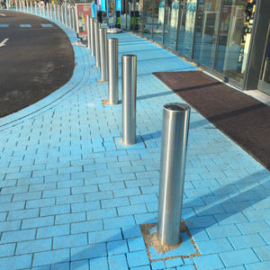 RVS trottoirpaal Exclusief