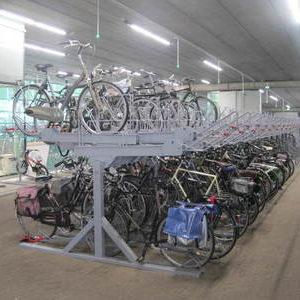 Etagerekken om fietsen in te parkeren