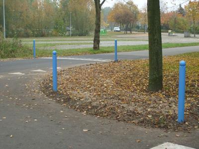 Trottoirpalen Leipzig blauw gepoedercoat