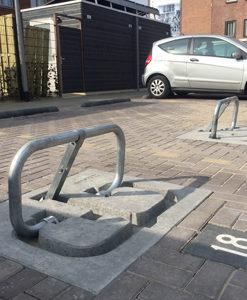 Parkeerbeugel met nummering