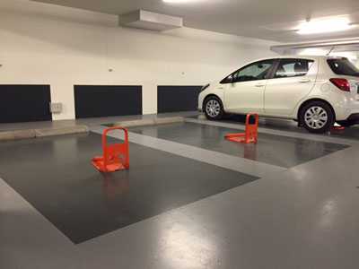 Parkeerbeugel orange