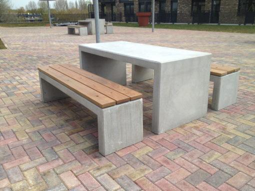 Picknickset betonnen bank en tafel Basic