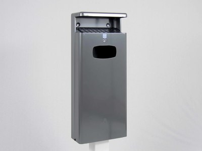 Afvalbak Basic 32 liter antraciet wandbevestiging