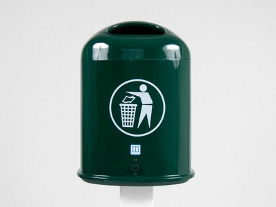 Afvalbak Ravenna groen gepoedercoat