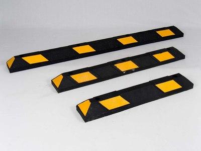 Parkeerstootband gerecycled rubber zwart geel