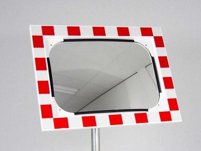 verkeersspiegel rechthoek op paal