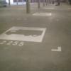 Wegmarkeringen parkeerplaats vrachtwagen