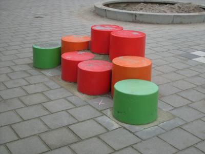 Zitelementen van beton