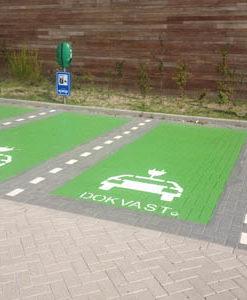 belijning-parkeerterrein-symbolen oplaadpunt