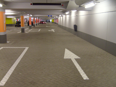 Bewegwijzering parkeergarage