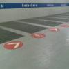 Wegmarkeringen parkeergarage symbool