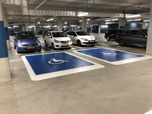 Wegmarkeringen symbool invalideparkerplaats