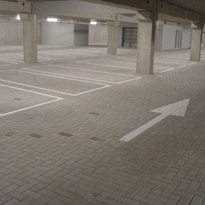 bewegwijzering belijning parkeergarage
