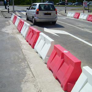 Kunststof barriers rood/wit