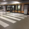 zebrapad in parkeergarage