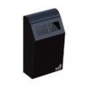 Afvalbak Bin 50 liter muurbevestiging met inworpverkleiner