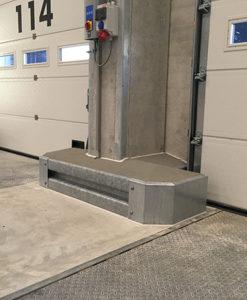 Vangrail superplint ter bescherming van dockdeuren