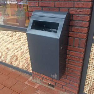 afvalbak Bin Systems wandbevestiging