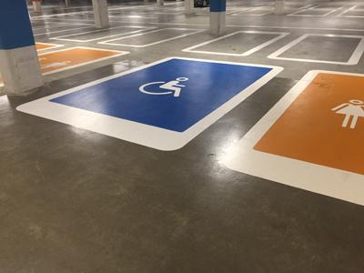 Wegmarkering symbool invalideparkeerplaats