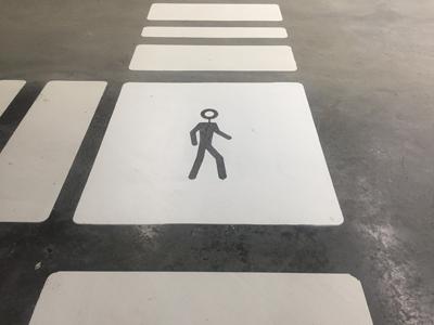 Wegmarkering symbool wandelaar