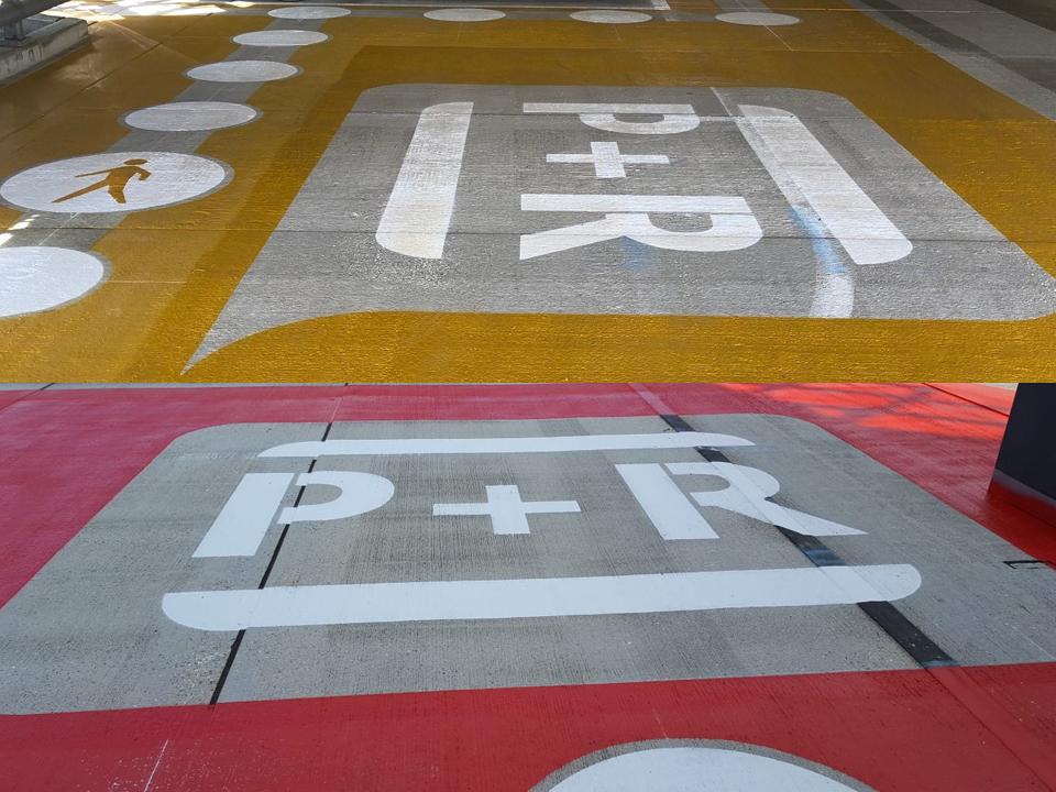 Westraven wegmarkeringen P+R
