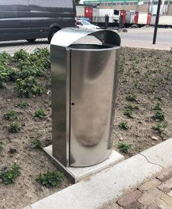 afvalbak RVS Basic