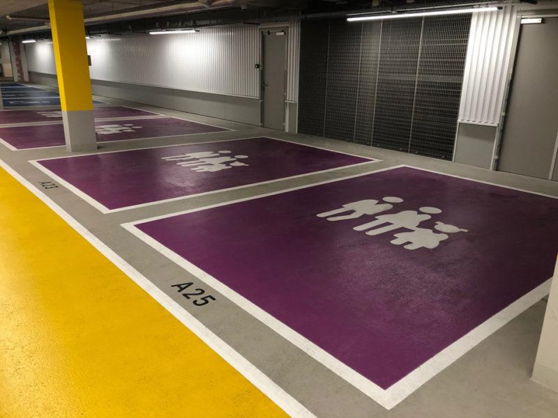 Gezinsparkeerplaatsen