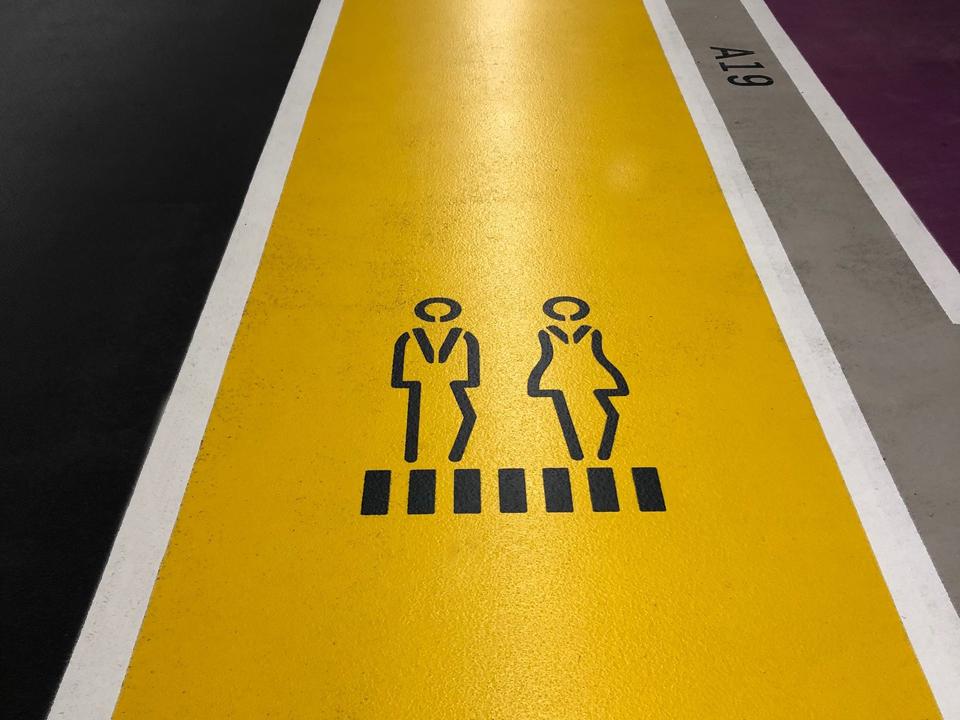 Symbolen voetgangers