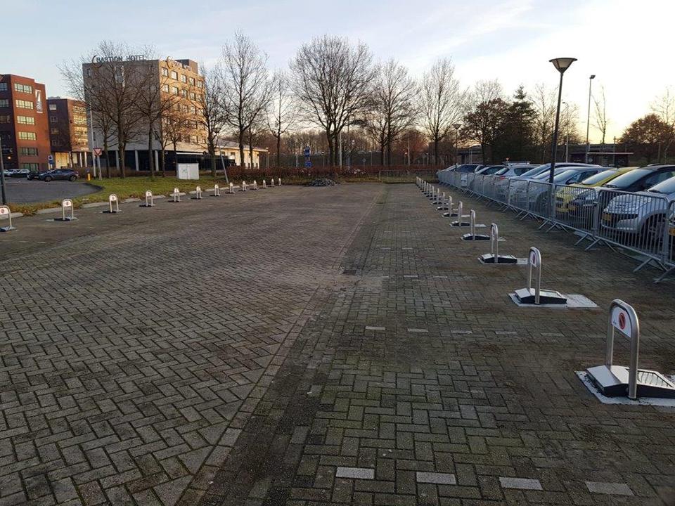 Parkeerbeugels automatisch op zonneenergie